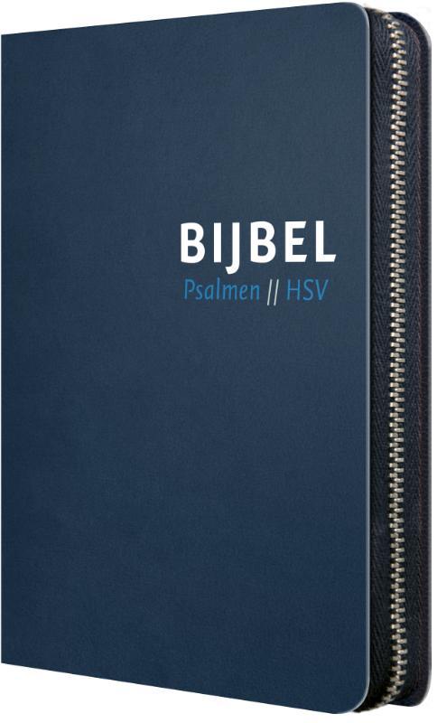 Bijbel (HSV) met Psalmen - blauw leer me