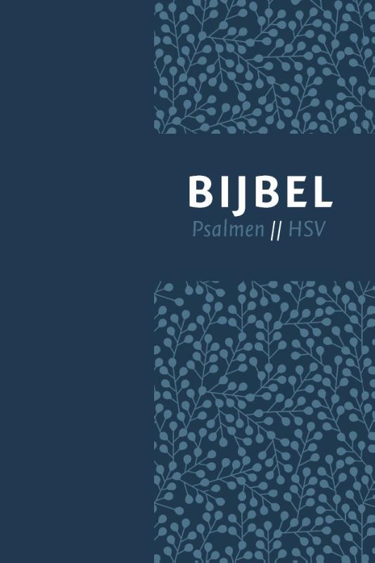 Bijbel (HSV) met psalmen - vivella blauw