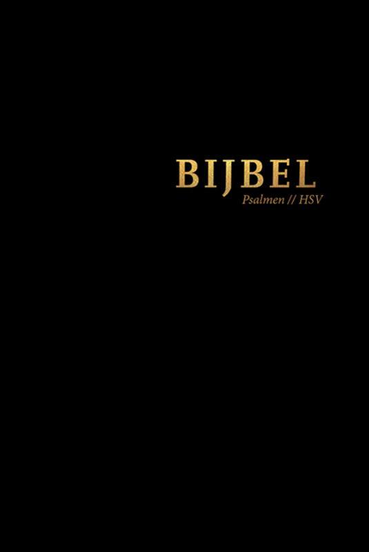 Bijbel (HSV) met Psalmen - vivella zwart