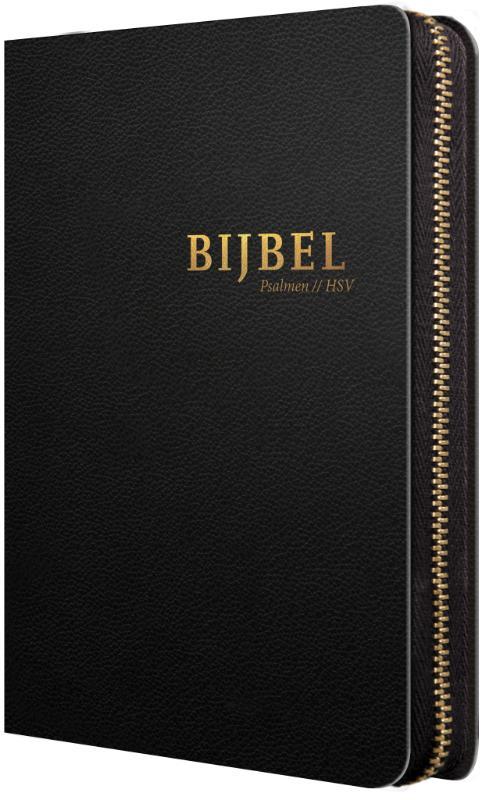 Bijbel (HSV) met Psalmen - zwart leer me