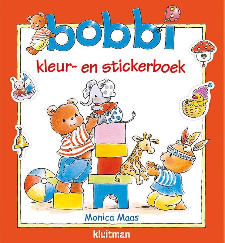 Bobbi kleur- en stickerboek