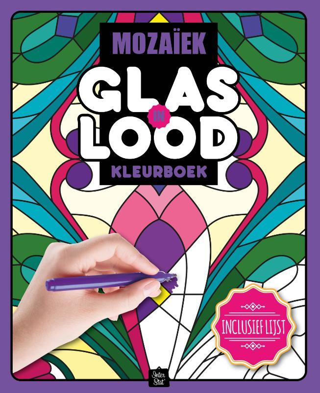 Glas in lood kleurboek Mozaiek