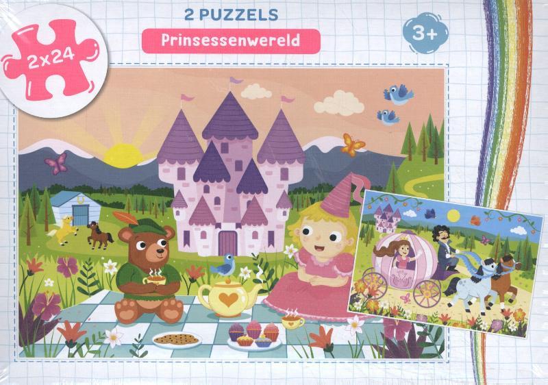 Prinsessenwereld - puzzel 2 x 24 stukjes