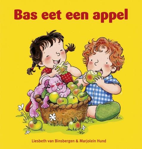 Bas eet een appel