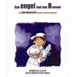 Engel met een B songboek