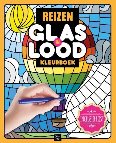 Glas in lood kleurboek Reizen