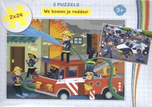 We komen je redden! - puzzel 2 x 24 stuk