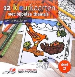12 kleurkaarten met bijbelse thema's 2
