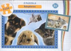 Babydieren - puzzel 2 x 24 stukjes