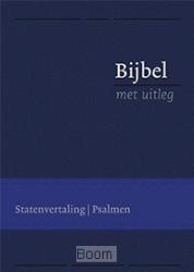 Bijbel met uitleg flex. blauw 140x198mm
