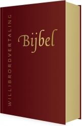 Bijbel (WV) in leer met goudsnee (rood)