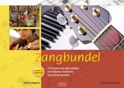 Gele bundel teksted met gitaarakkoorden